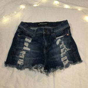 Express Jeans Distressed Jean Shorts - size 4